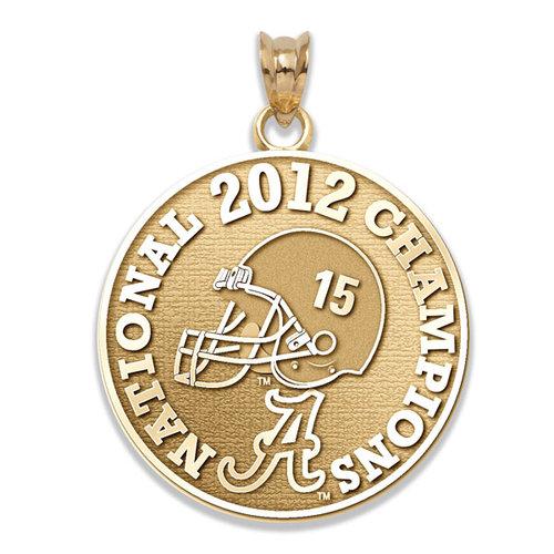 NCAA - Alabama Crimson Tide 2012 BCS National Champions 10K Gold Charm
