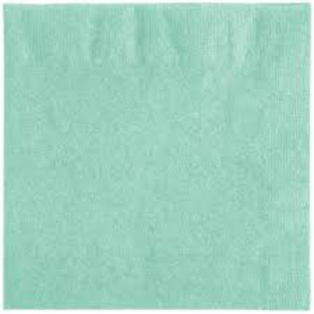 Club Pack of 500 Fresh Mint Green 2-Ply Disposable Folded Paper Lunch Napkins 6.5