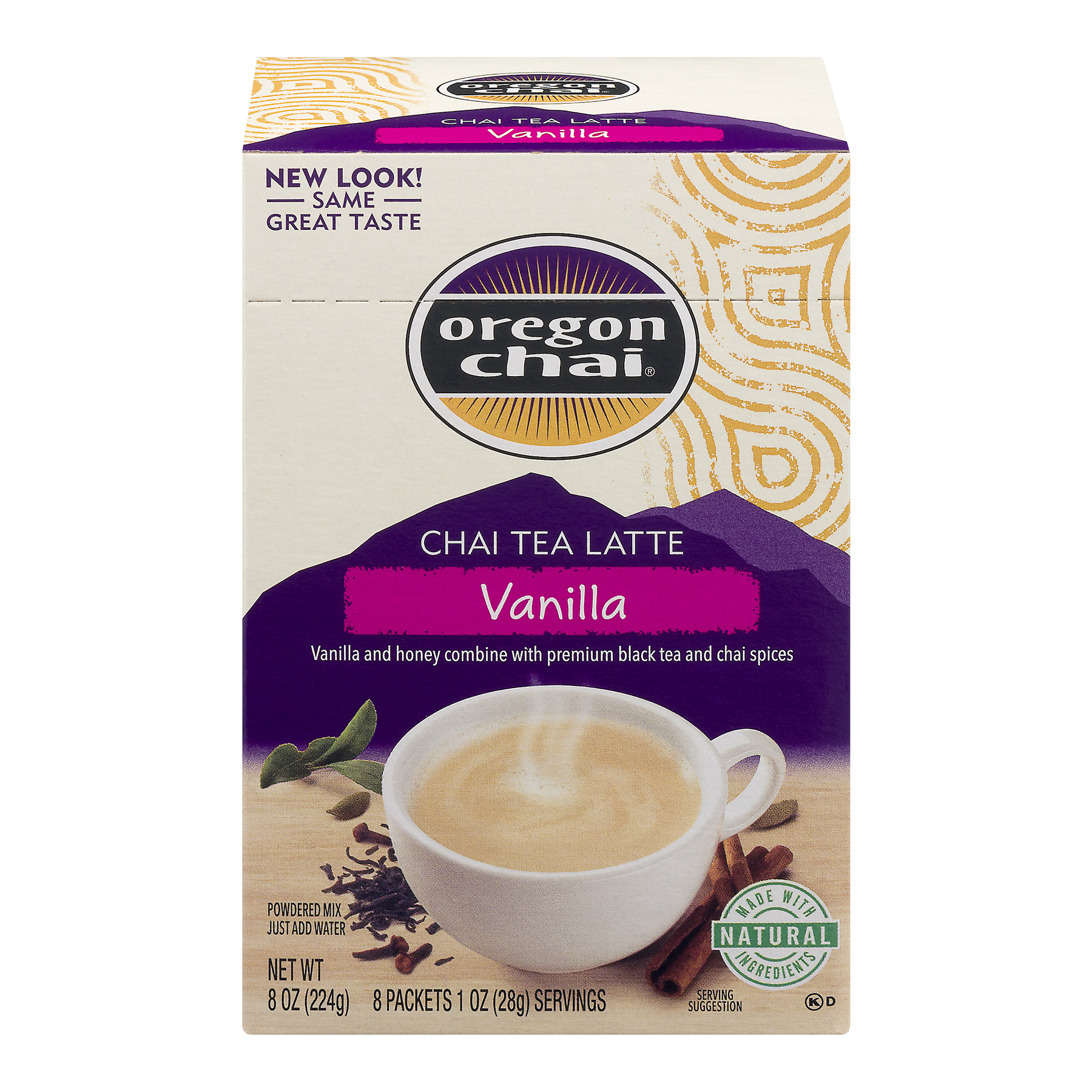 Oregon Chai Chai Tea Latte Vanilla Powdered Mix Packets - 8 CT1.0 OZ