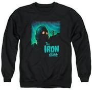 Iron Giant Look To The Stars Mens Crewneck Sweatshirt