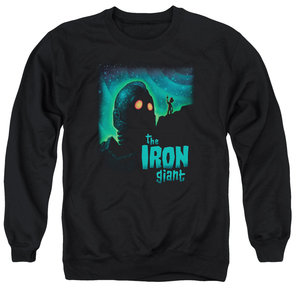 Iron Giant Look To The Stars Mens Crewneck Sweatshirt