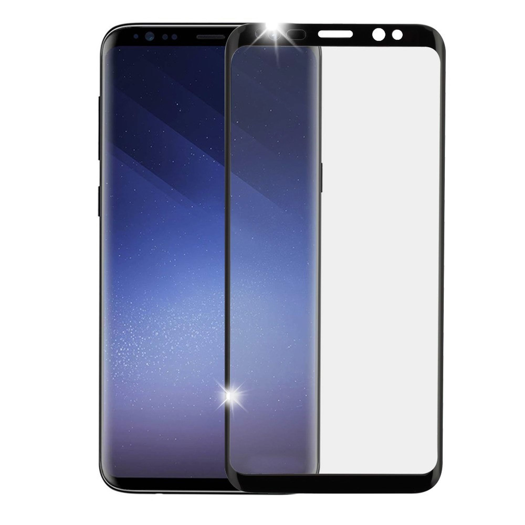 Insten Full Coverage Tempered Glass Screen Protector Film Cover For Samsung Galaxy S9 Plus - Black