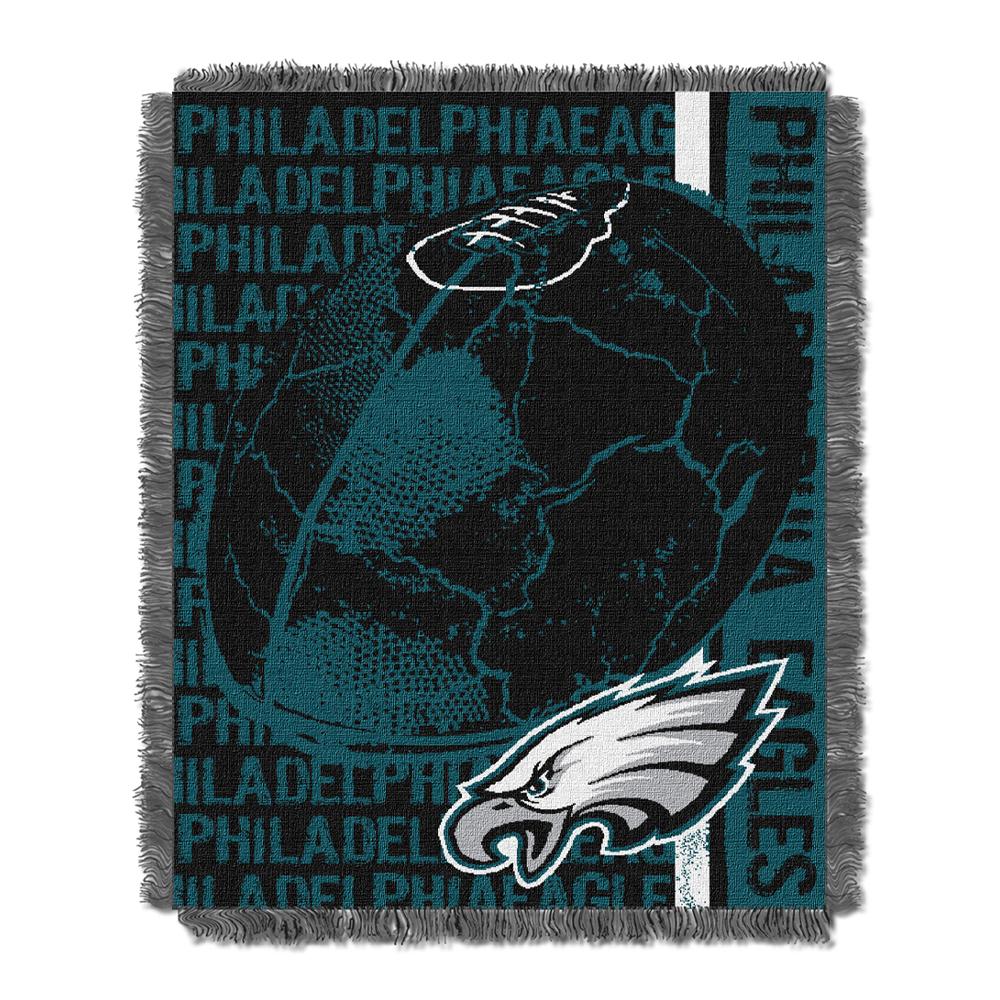 "Philadelphia Eagles NFL Triple Woven Jacquard Throw (Double Play) (48""x60"")"