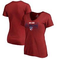 FC Dallas Fanatics Branded Women's We Are V-Neck T-Shirt - Red