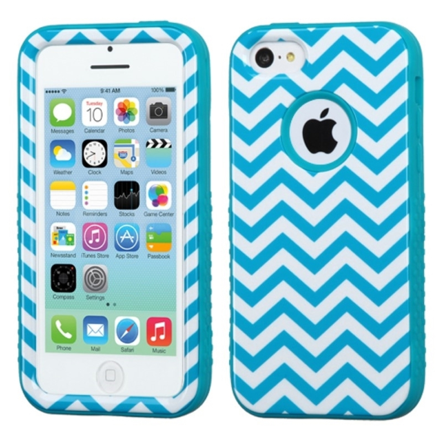 Insten Blue Wave/Tropical Teal VERGE Hybrid Protector Skin Case Cover For APPLE iPhone 5C