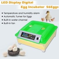 Yescom Automatic Digital 56 Eggs Incubator Hatcher Turning Temperature Control