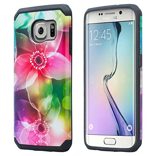Samsung Galaxy S7 Edge Case, Hybrid Dual Layer Armor[Impact/Shock Resistant] Case for Galaxy S7 - Lily Pedal