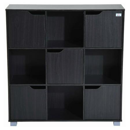 HomCom 9 Cube Bookcase Storage Shelf Organizer
