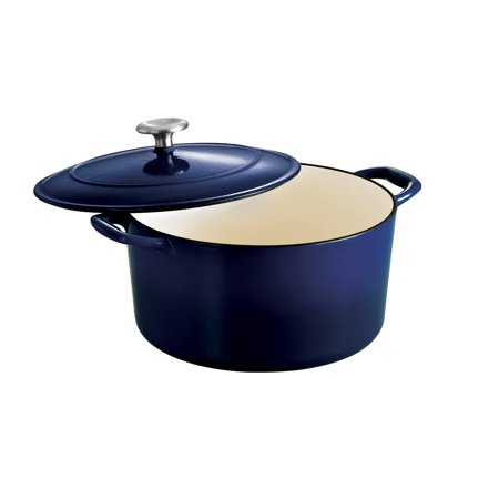- Tramontina Gourmet Enameled Cast Iron Covered Round Dutch Oven - Gradated Cobalt