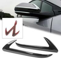 GZYF 2PCS Carbon Fiber Side Mirror Base Cover Trims For Toyota C-HR 2016-2018