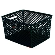 mainstays large deco basket black - Decorative Baskets