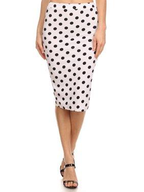 Women's print Knit Pencil Skirt