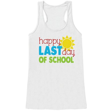 Custom Party Shop Womens Last Day of School Teacher Tank Top - Large