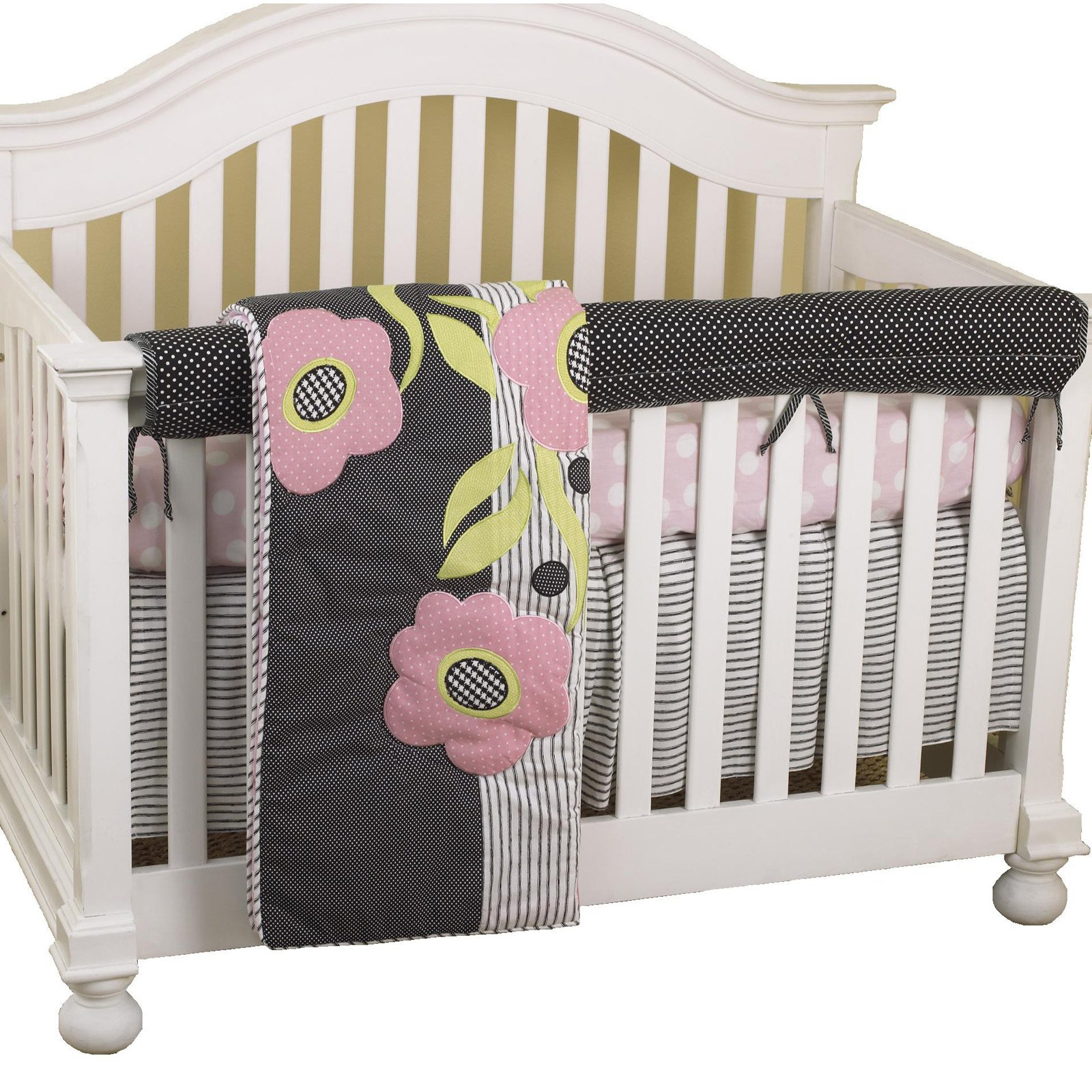 Cotton Tale Designs Poppy Front Crib Rail Cover Up Set