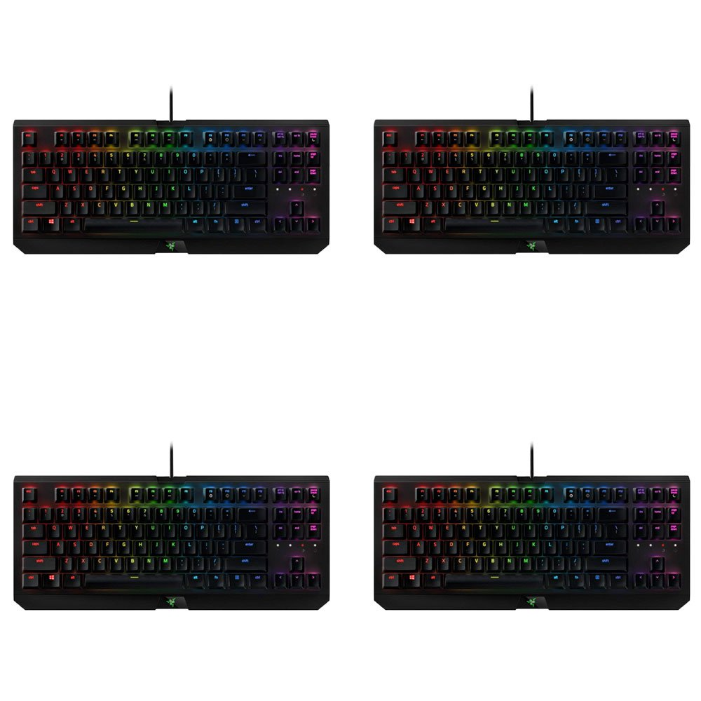 Razer BlackWidow Tournament Edition Chroma X Wired USB Gaming Keyboard (4 Pack) by Razer