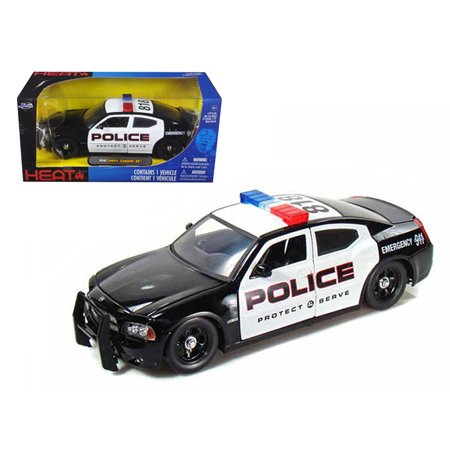 18 Highway 61 Diecast Model - 2006 Dodge Charger R/T Highway Patrol With Stock Wheels 1/24 Diecast Model Car by Jada