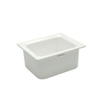 Carlisle Coldmaster 19 9/10 qt White ABS Plastic Food Pan - Full Size -