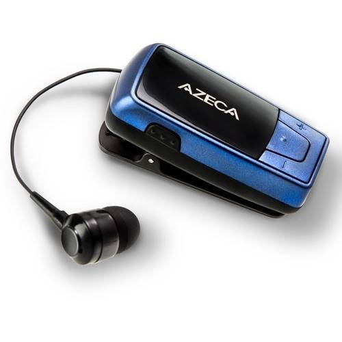 Azeca Retractable Clip-On Bluetooth Headset with Vibration