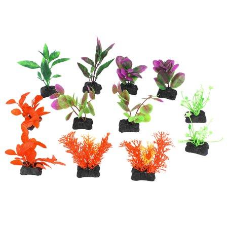 Fish Tank Aquarium Multicolor Lanscaping Artificial Aquatic Plant Ornament 12pcs