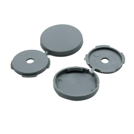 4 Pcs Gray 5mm Dia Nut Screw Bolt Cap Covers Interior Decoration for Car - image 2 of 4