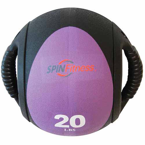 SPIN Fitness Commercial-Grade Dual Grip Medicine Ball, 20 lbs