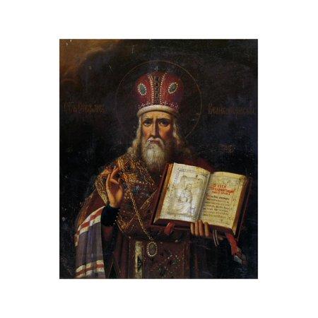 Saint Stephen of Perm (1340-139), 18th Century Print Wall Art