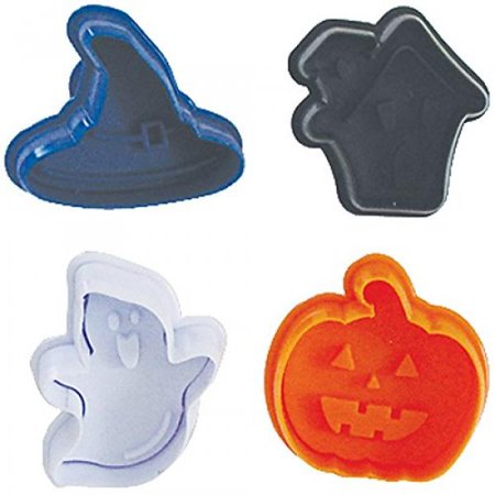 R & M International 494 Pastry/Cookie/Fondant Stamper, 3-Inch, Halloween Theme - Halloween Themed Entree