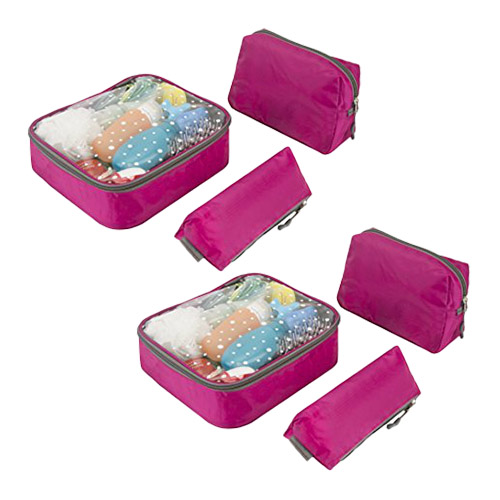 6 Piece Toiletry Packing Set-Berry 3 Piece Toiletry Packing Set