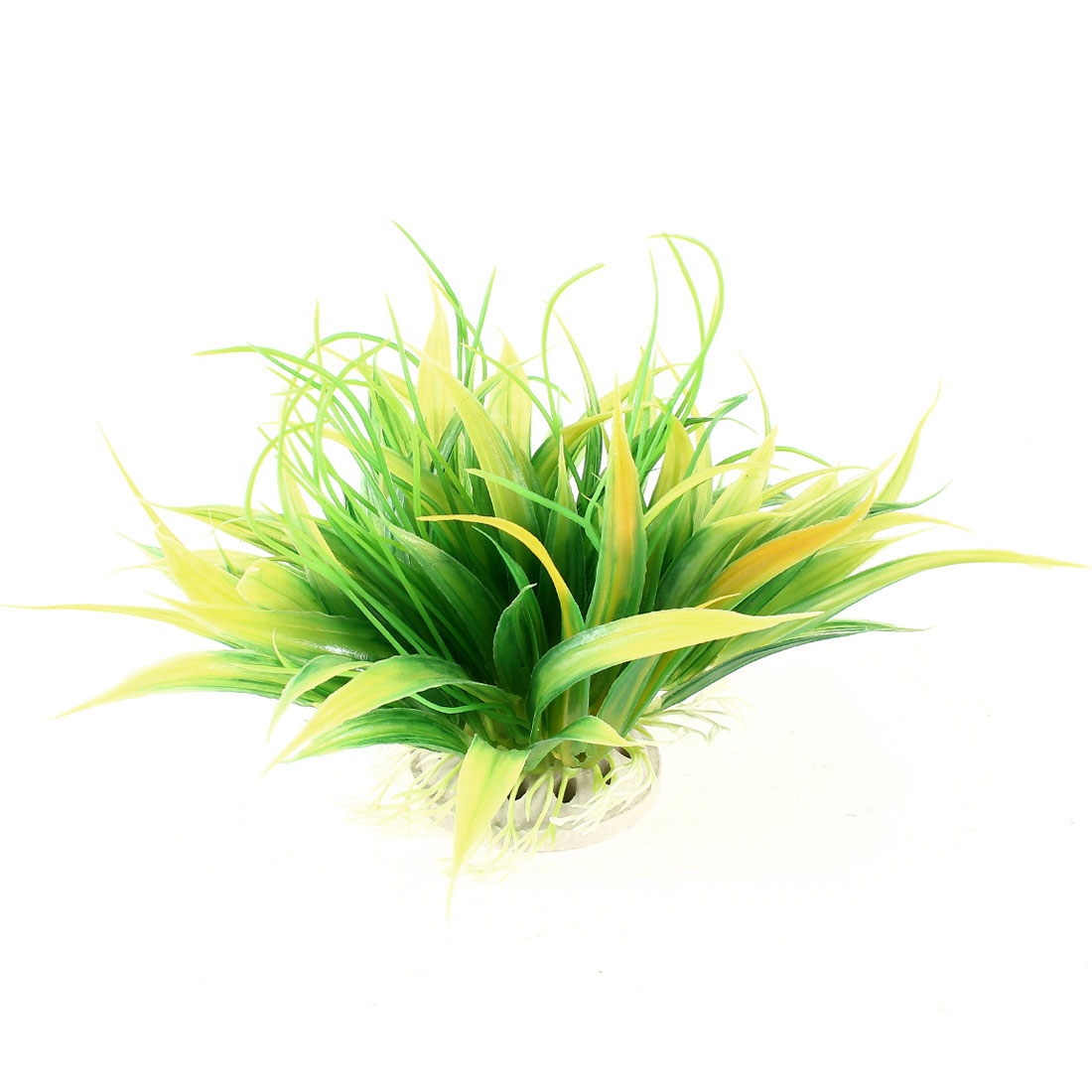 Unique Bargains 4.3 Inch Yellow Green Underwater Plants Grass for Fish Tank Aquarium Decoration