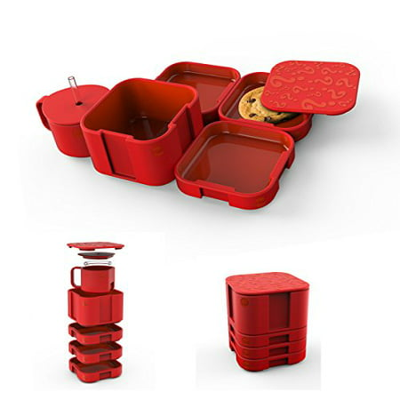 Fun Eating Devices   Modset Interactive Bento Box  Red