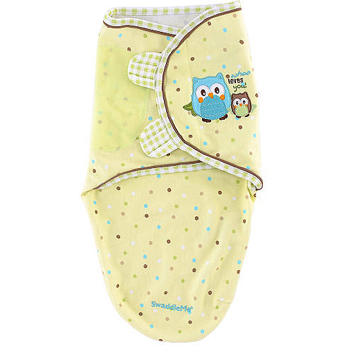 Summer Infant SwaddleMe Pure Love Swaddling Blanket, Owl, Small
