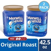 (2 Pack) Maxwell House Original Roast Medium Ground Coffee, Caffeinated, 42.5 oz Canister