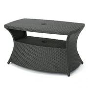 white outdoor side table. Banta Outdoor Wicker Side Table, Grey White Table