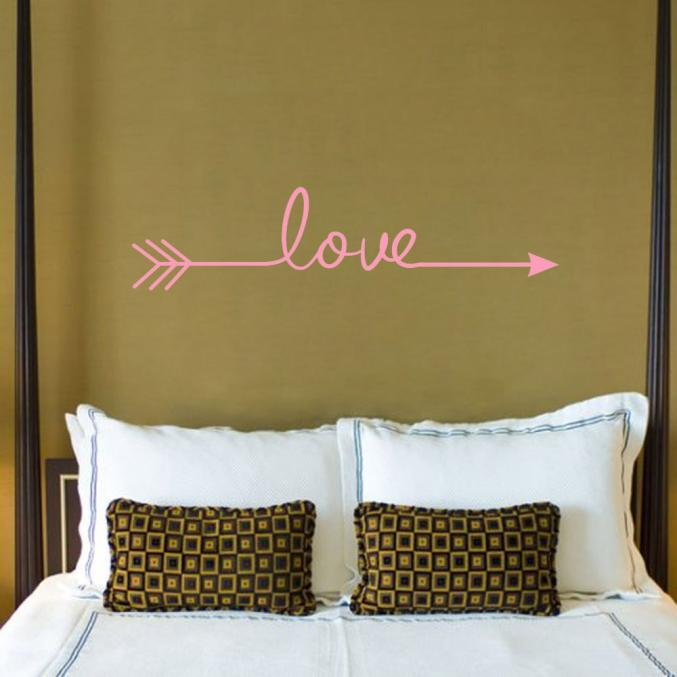 Love Arrow Decal Living Room Bedroom Vinyl Carving Wall Decal Sticker