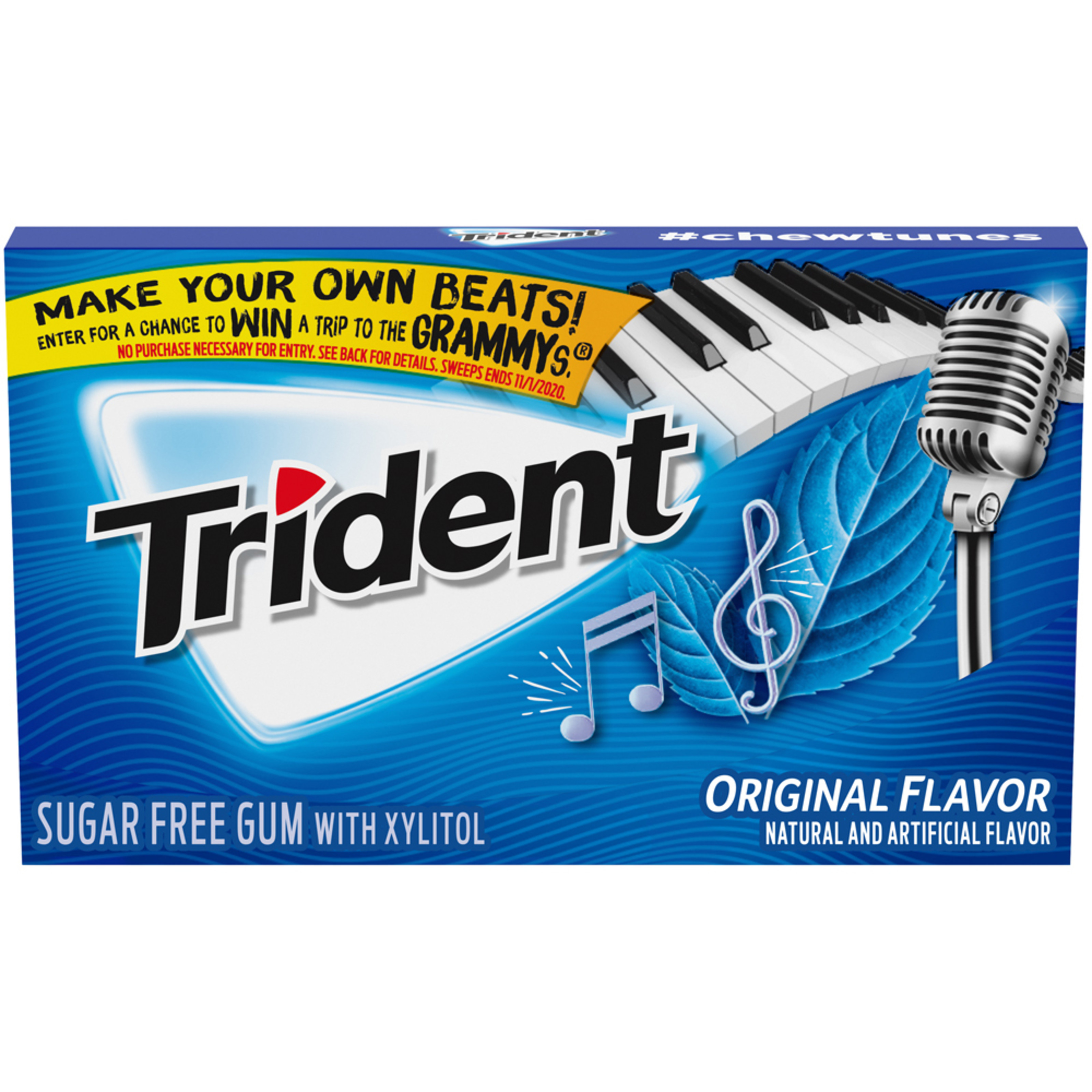 Trident Original Flavor Sugar Free Gum, 14 Piece Pack