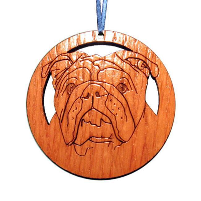 CAMIC designs DOG024N Laser-Etched English Bulldog Ornaments - Set of 6