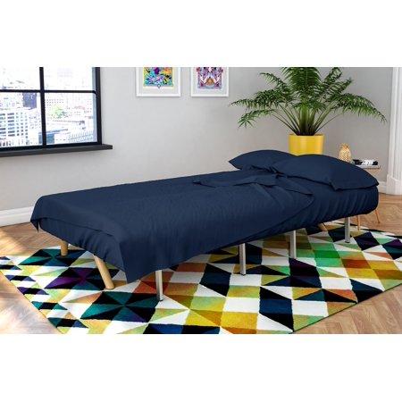 Novogratz Futon Twin Sleeper Sofa 4 Piece Brushed Microfiber Sheet Set Multiple Colors Com