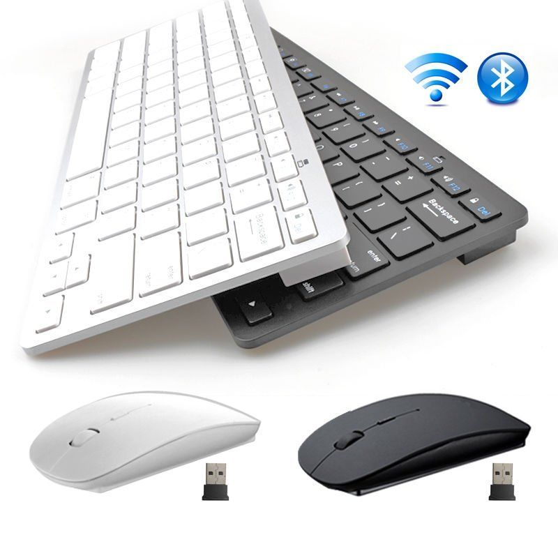 Mini 2.4G DPI Wireless Keyboard and Optical Mouse Combo for Desktop PC LOT