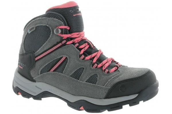 Hi-Tec 22060 Bandera Mid II Womans Waterproof Boots Charcoal Graphite Blossom by Hi-Tec