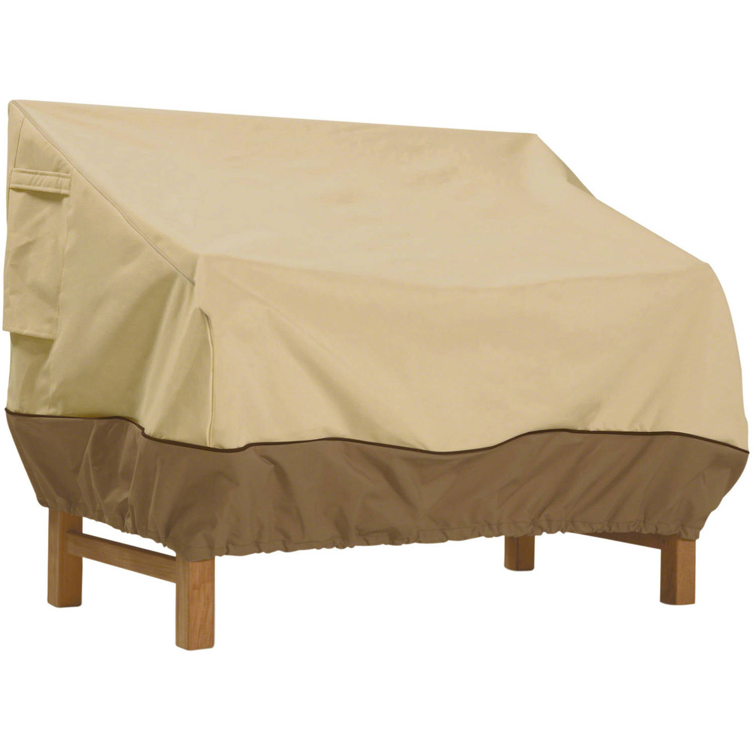 "Classic Accessories Veranda Patio Bench and Loveseat Furniture Storage Cover, Small, fits up to 58""L x 32.5""W"