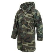 Rothco Vintage Camouflage M-51 Coat Fishtail Parka Jacket, Woodland Camo