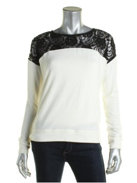 a7ab36ab Product Image Maison Jules Womens Stretch Lace Contrast Casual Top