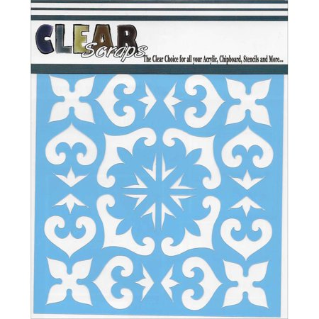 "Clear Scraps Stencils 12""X12""-Mexican Tile - image 1 of 1"