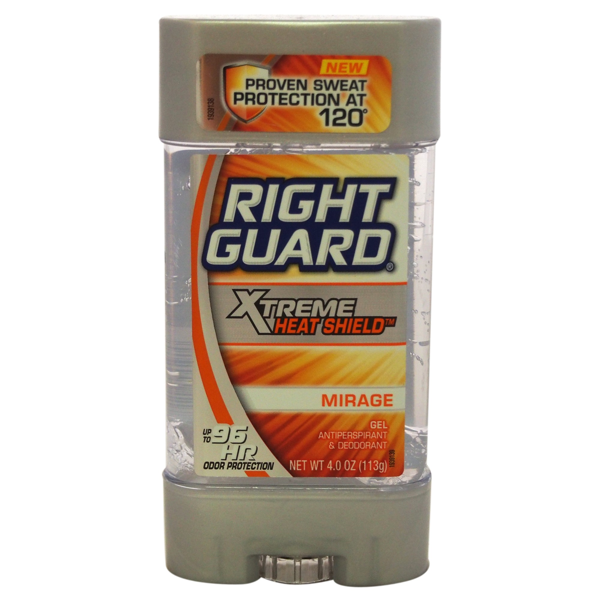Right Guard Xtreme Heat Shield Gel Anti-Perspirant Deodorant, Mirage, 4 Oz