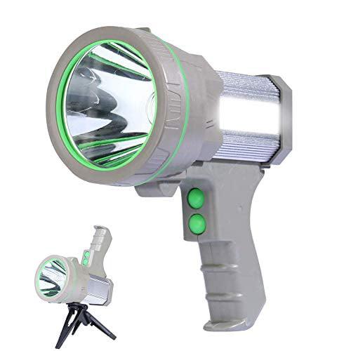 Eornmor High Power Handheld Led Spotlight Rechargeable Waterproof Portable Large