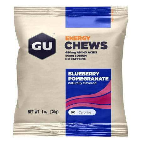 GU Energy Chews: Blueberry Pomegranate, Box of 18