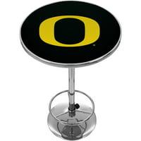 University of Oregon Chrome Pub Table, Carbon Fiber