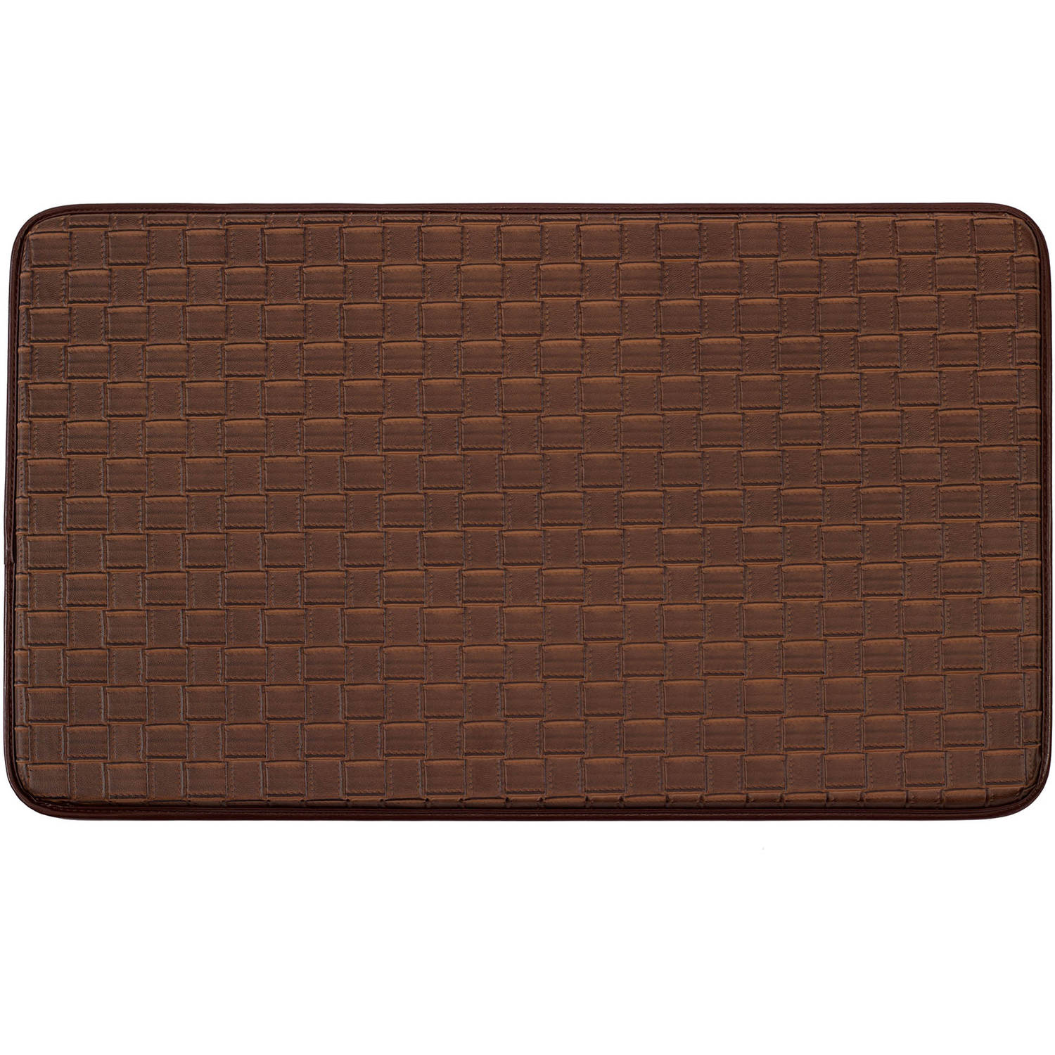 "Chef Gear Faux-Leather Basket Weave 20"" x 32"" Comfort Chef Mat"