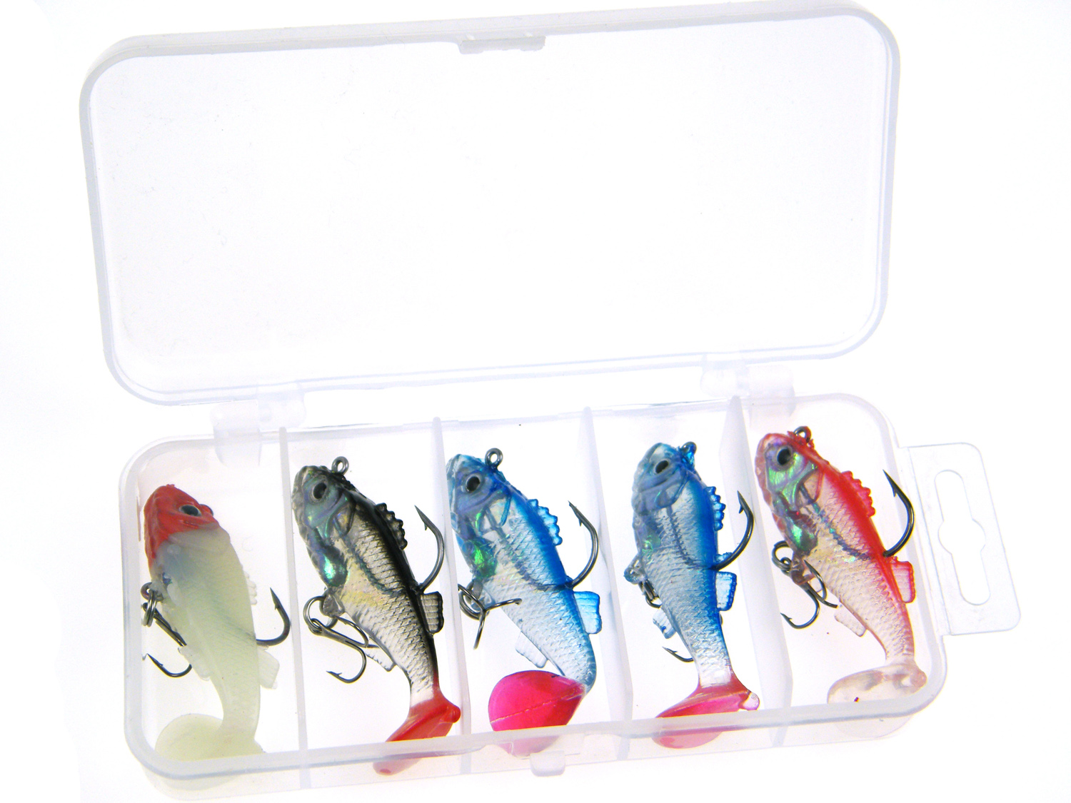 5 Pcs Pack Mix Color 6cm 8.5g Kit Fishing Lead Rigged Silicone Jig Artificial Soft Lure Baits Kit Set by
