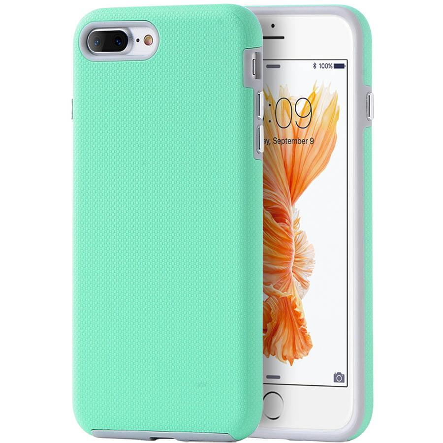 Apple iPhone 7 8 Plus EZ Press Anti-Slip Hybrid Case, Teal